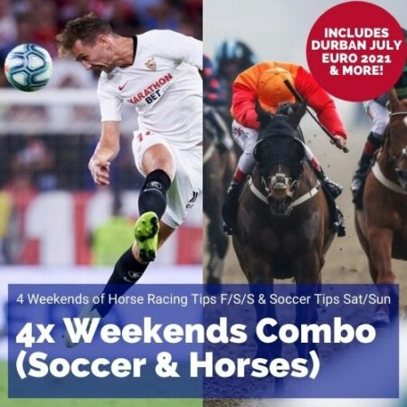 4 weekends horses soccer tips combo